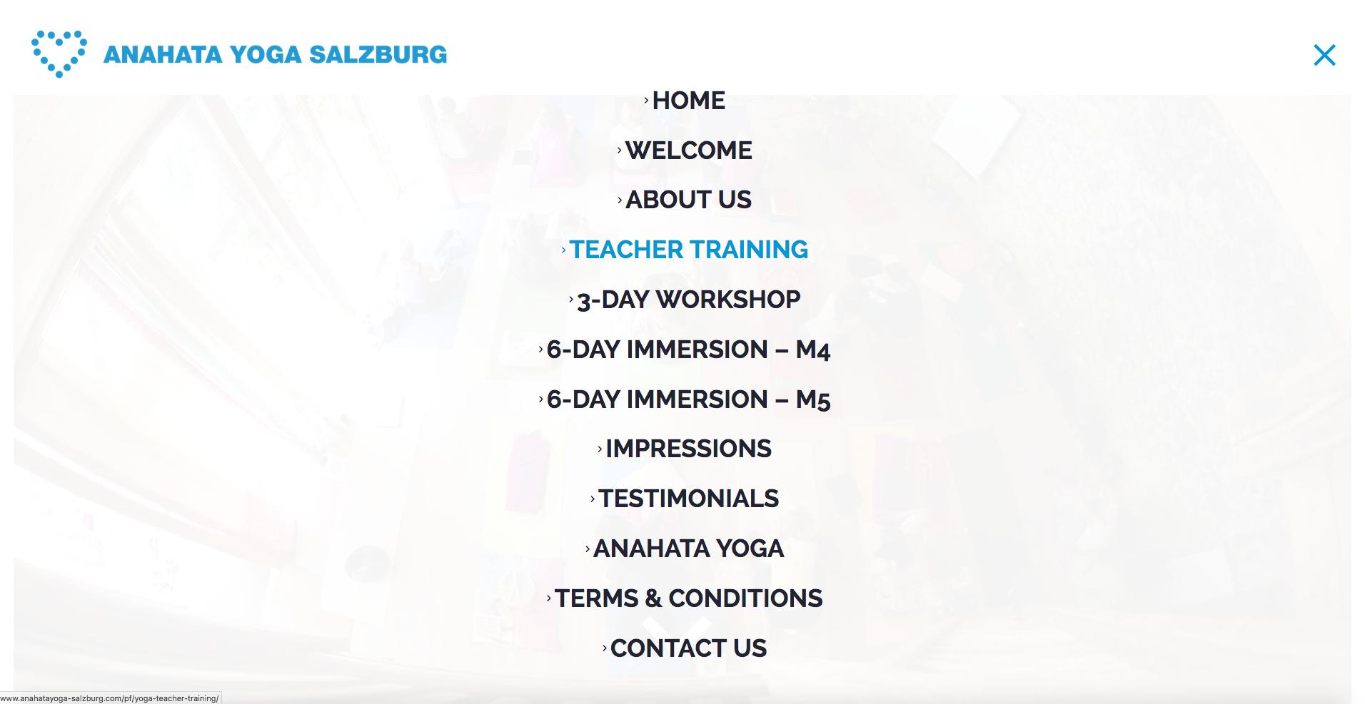 Fresh Herbs Communications – Anahata Yoga Salzburg Website 4