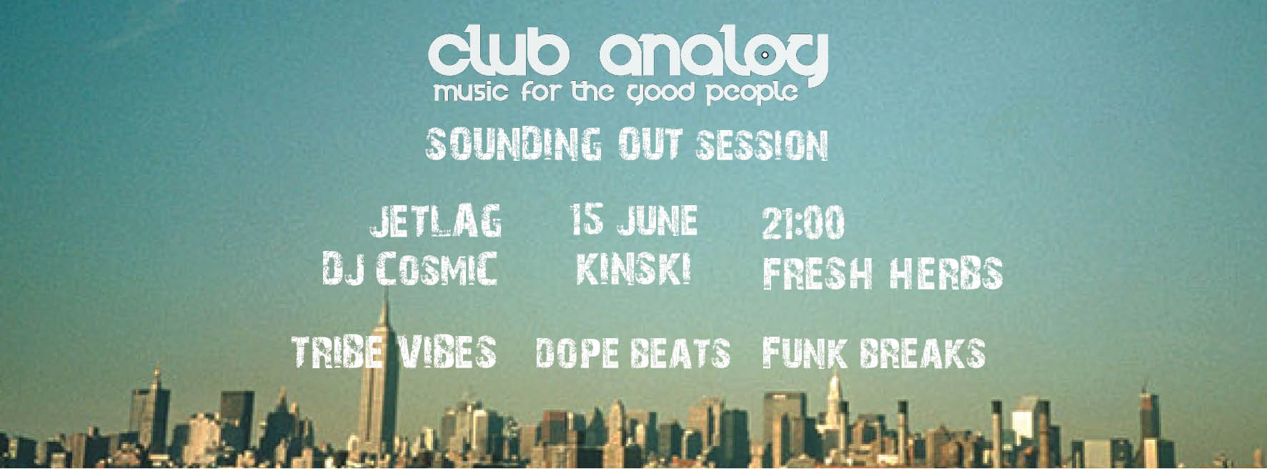CLUB ANALOG Sounding Out Session